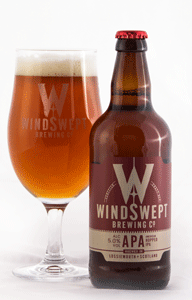 Windswept APA bottle with glass