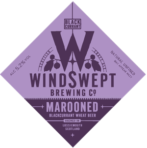 Marooned a blackcurrant fruit beer from Windswept Brewery in Lossiemouth