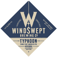 Typhoon craft Ale from Windswept brewing Co, Lossiemouth